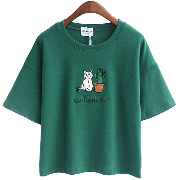 Cat And Me Tee (4 Colors)