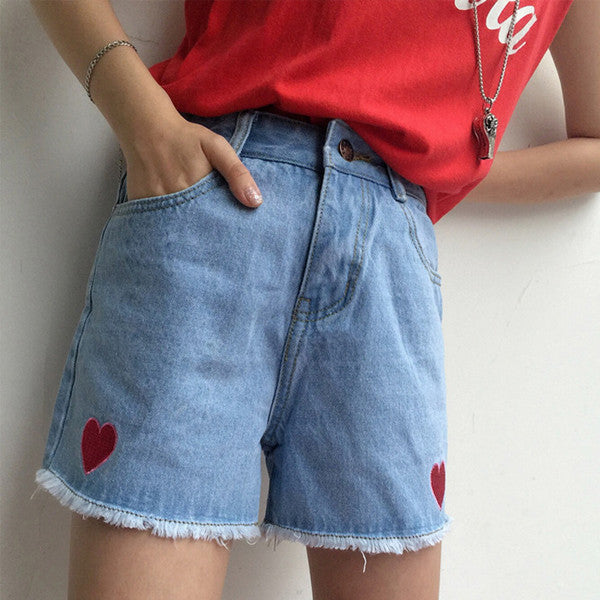 Heart Legging Shorts