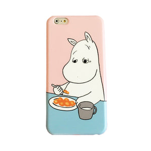White Hippo iPhone Case