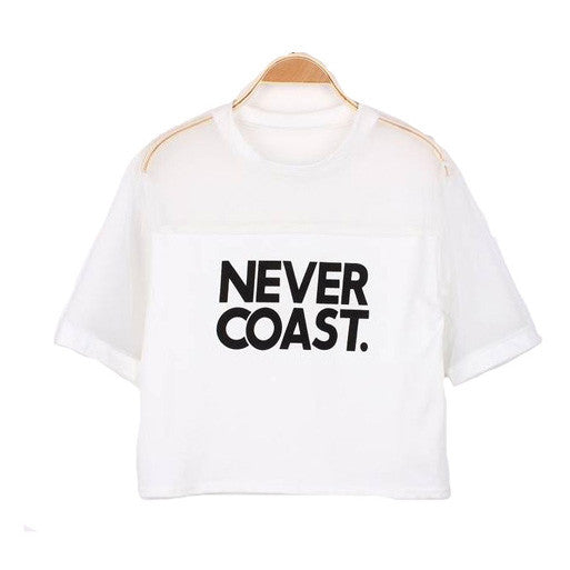 Never Coast Crop Top
