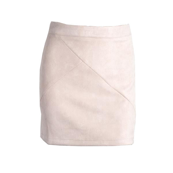 Suede Pencil Skirt (2 Colors)