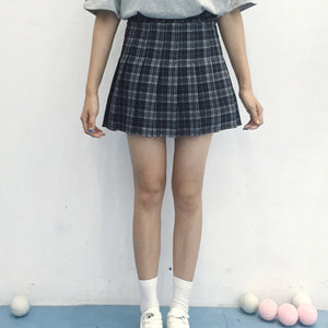 Plaid Pleated Skirts (3 Colors)