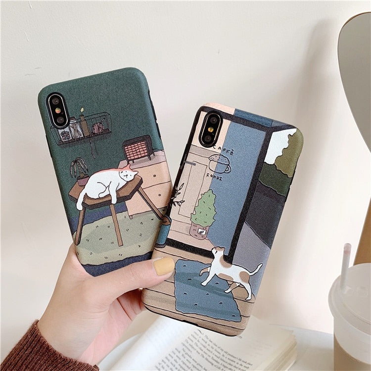 Lazy Cat iPhone Case (2 Colors)