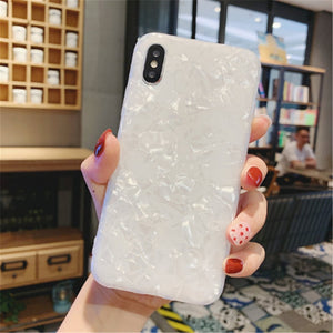 Glittery Marble iPhone Case (4 Colors)