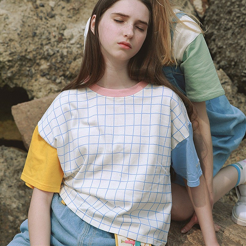 Aesthetic Patchwork Tee