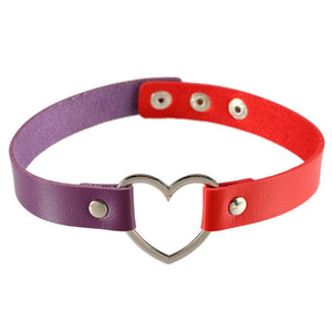 Multicolor Heart Choker (8 Colors)