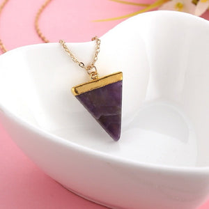 Triangle Crystal Necklaces (4 Colors)