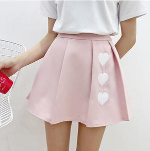 Falling Hearts Skirt (3 Colors)