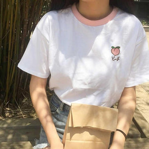 Embroidered Fruits Tee (3 Varieties)