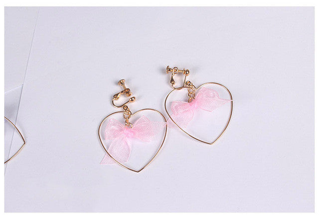 Heart Bow Earrings (2 Colors)