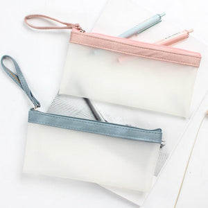 Transparent Pastel Pencil Case (4 Colors)