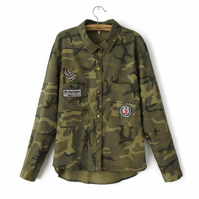 Camo Patched Jacket