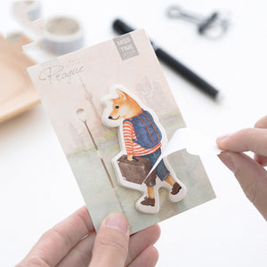 Shiba Inu Sticky Notes (4 Pack)