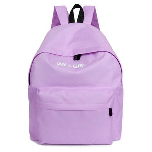 I Am A Girl Backpack (4 Colors)