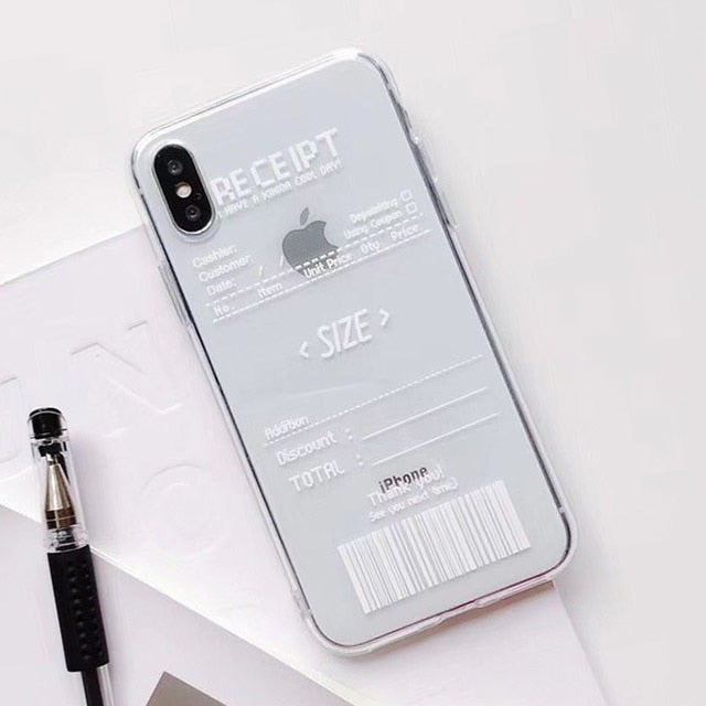 Receipt iPhone Case (2 Colors)