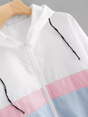 Pastel Colorblock Windbreaker