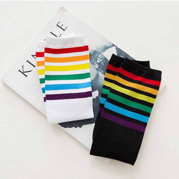 Rainbow Long Socks (2 Colors)