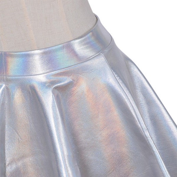 Silver Hologram Skirt