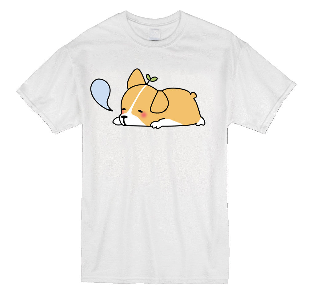 Sleepy Corgi Tee (3 Colors)