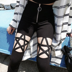 Star Cutout Leggings