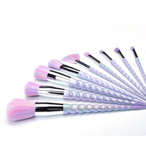 Swirly Horn 10 Brush Set