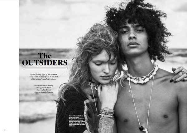 wool magazine features James & Irisa jewellery