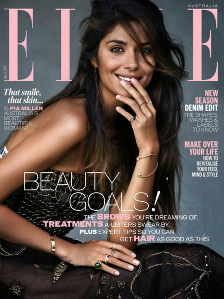 PIA MILLER WEARS JAMES & IRISA JEWELLERY