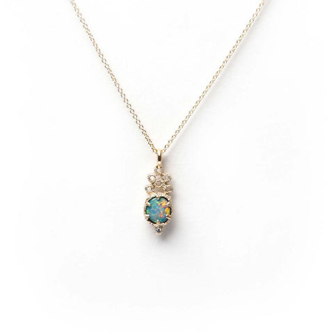 Meteor Crater Opal Necklace 1