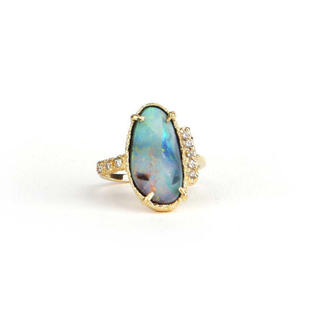 Boulder Opal Statement Ring - James & Irisa Jewellery