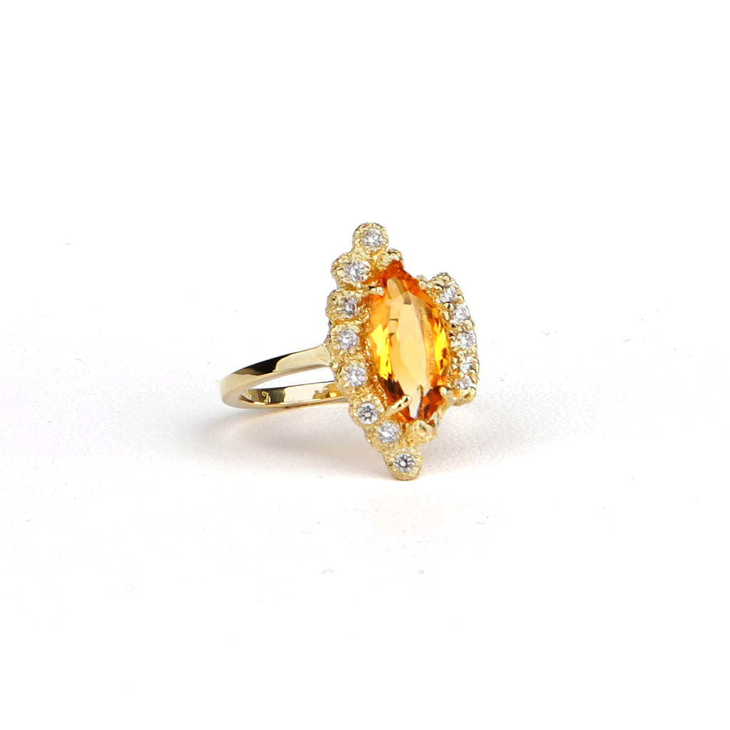 Citrine Mix-match Setting Ring - James & Irisa Jewellery