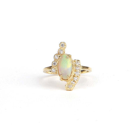 Crystal Opal Mix-match Ring - James & Irisa Jewellery