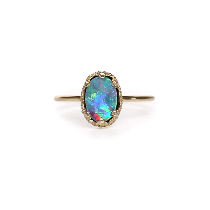 Opal Doublet Stacking Ring 1