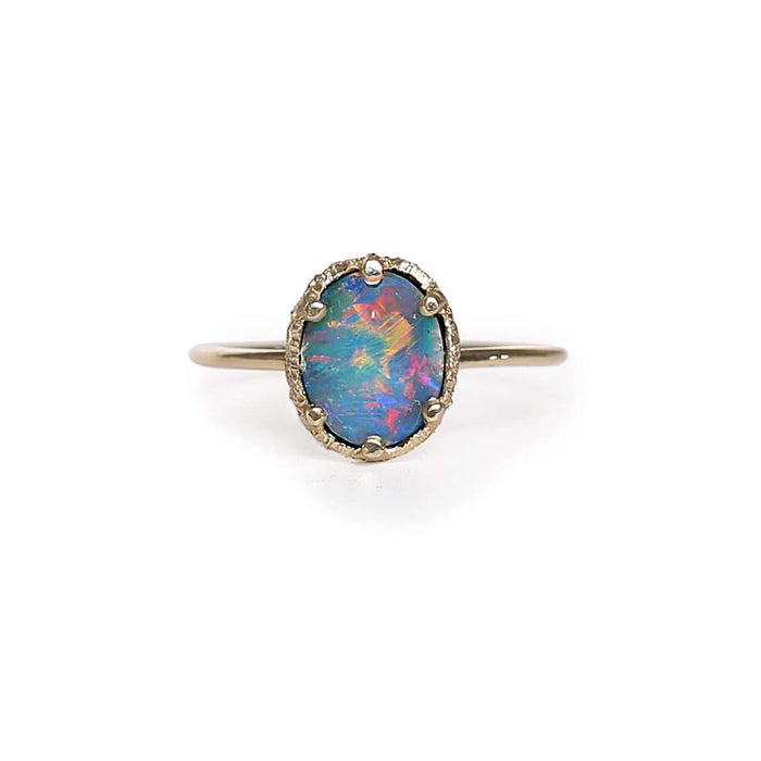 Opal Doublet Stacking Ring 3