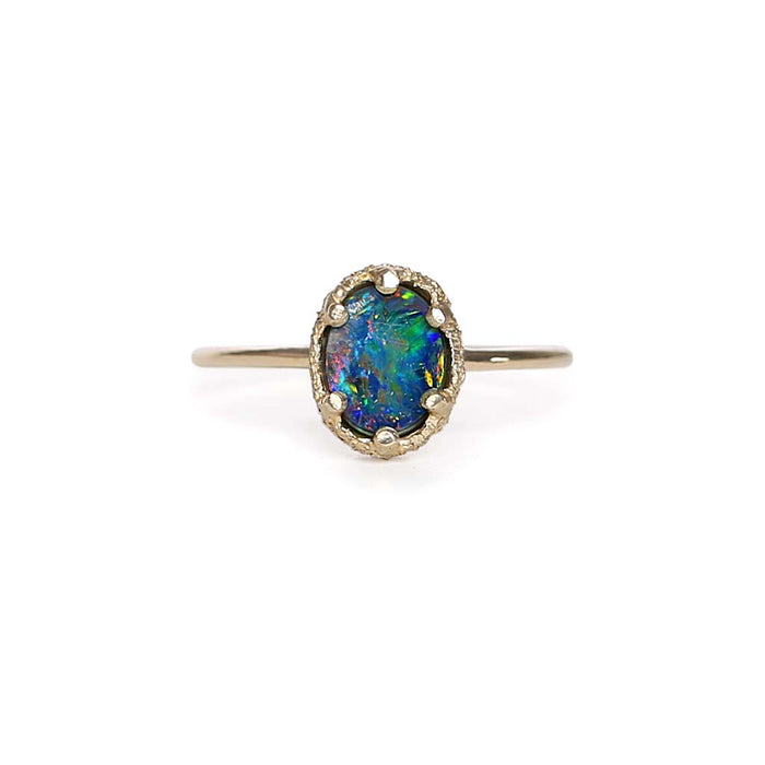 Opal Doublet Stacking Ring 4