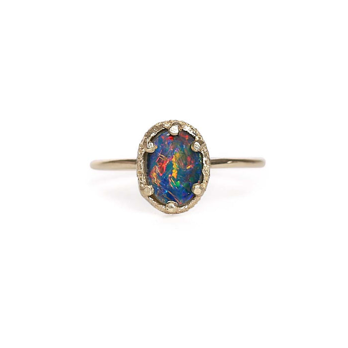 Opal Doublet Stacking Ring 5