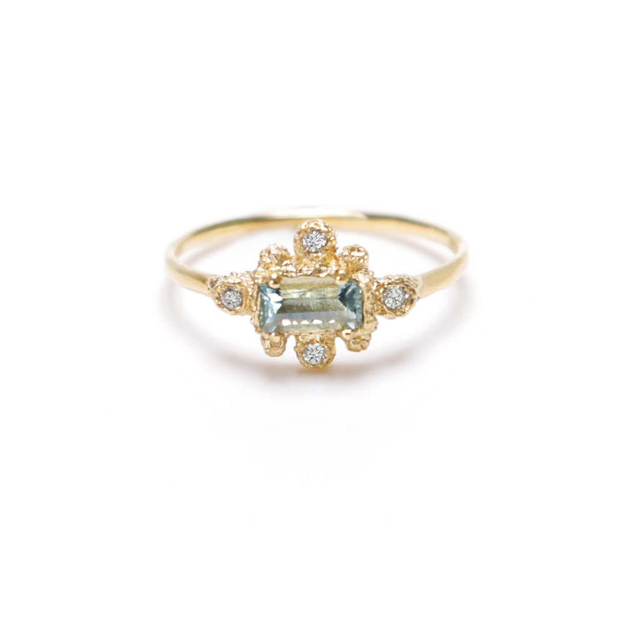 Aqua Star Ring (14K) - James & Irisa Jewellery