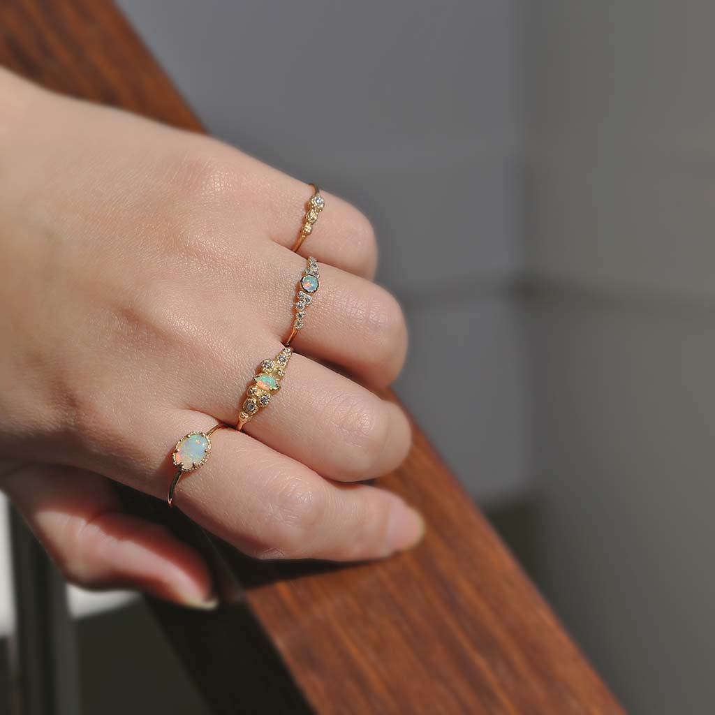 Meteorolite Stacking Ring (9K) - James & Irisa Jewellery