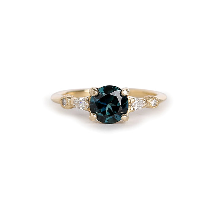 Astra round Parti Sapphire Ring