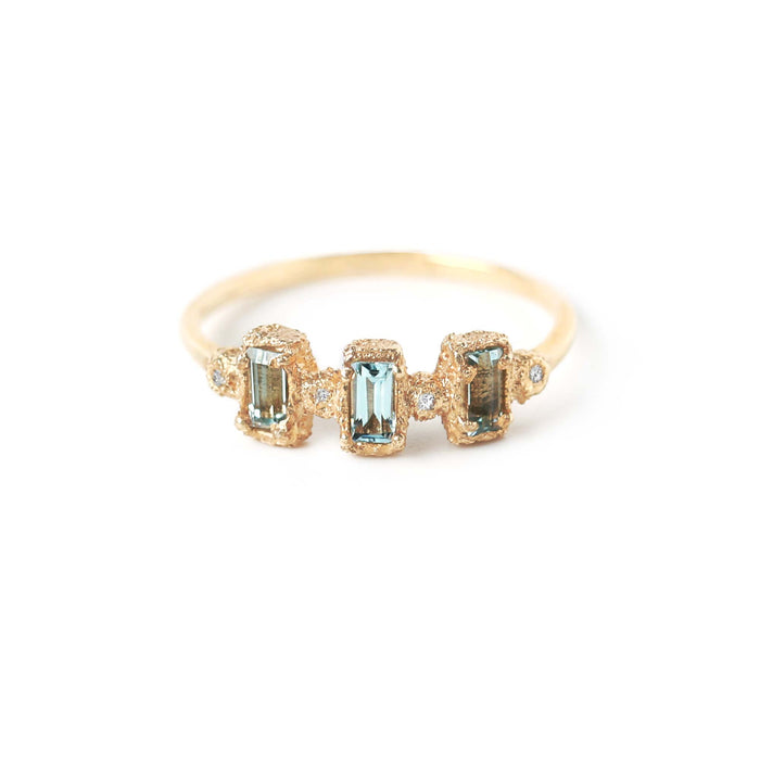 Aqua Drift Ring (14K) - James & Irisa Jewellery