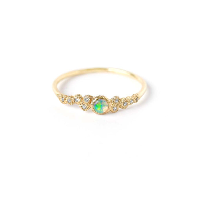 Mini Meteorolite Opal Ring (9K) - James & Irisa Jewellery