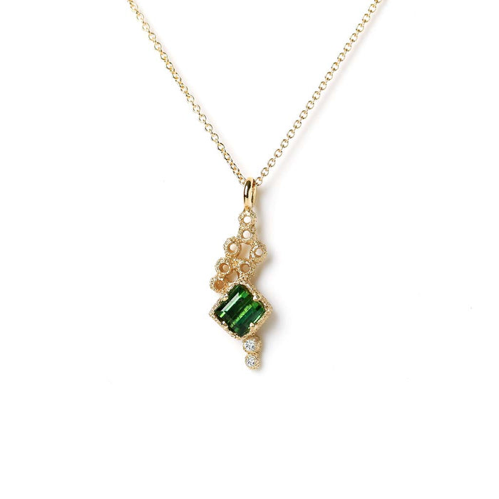 Meteor Crater Tourmaline Necklace (9K) - James & Irisa Jewellery