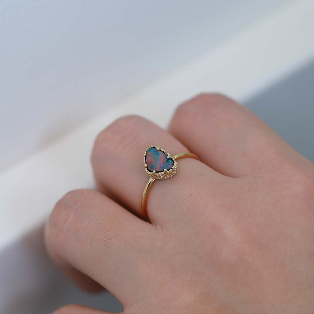 Opal Stacking Ring 3 (9K) - James & Irisa Jewellery