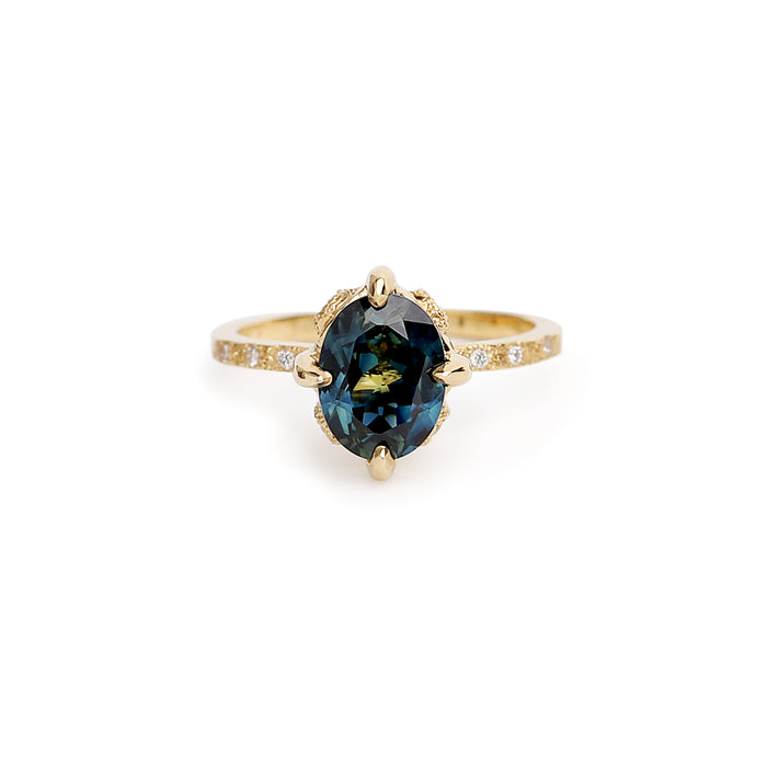 Elements oval sapphire ring