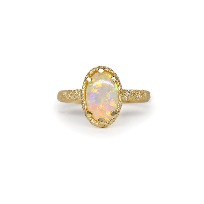 Galaxy Oval Crystal Opal Ring