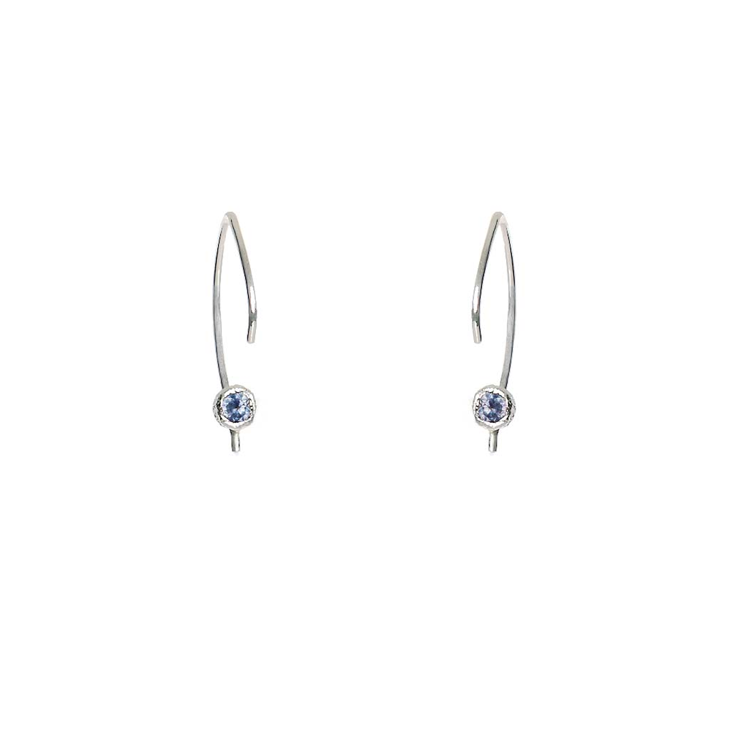 Star Dust Sapphire Hoops - James & Irisa Jewellery