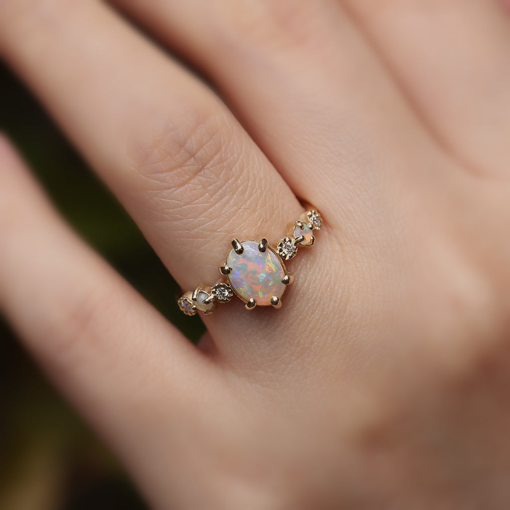 Harmony Oval Opal Ring