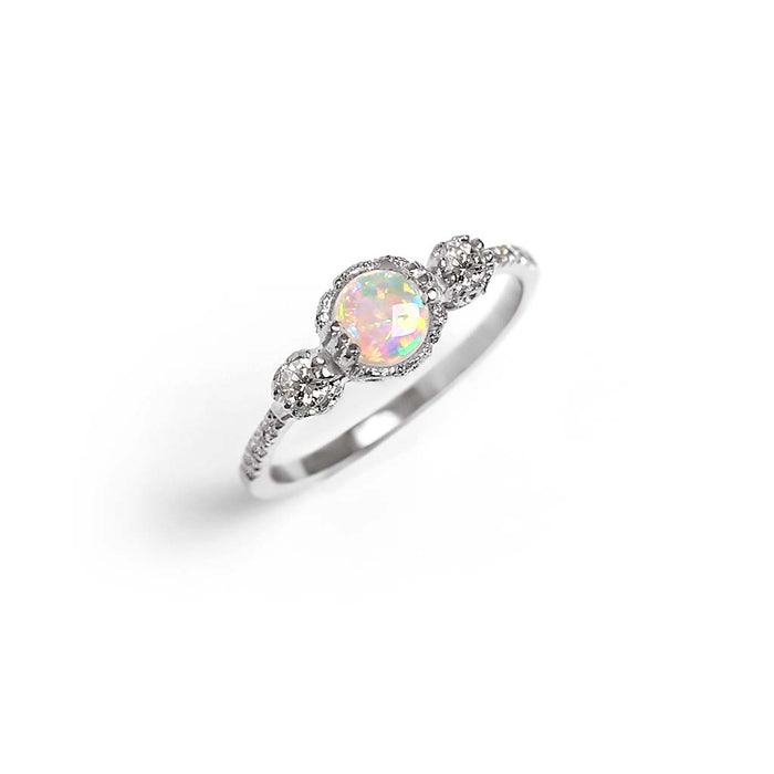 Destiny Opal Engagement Ring - James & Irisa Jewellery