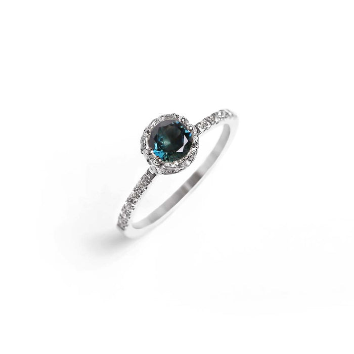 Promise Parti Sapphire Solitaire Ring - James & Irisa Jewellery