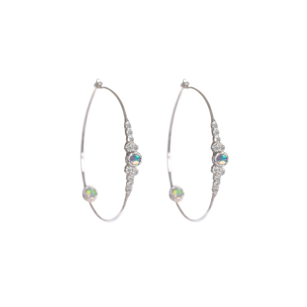 Meteorites Opal Hoops - James & Irisa Jewellery