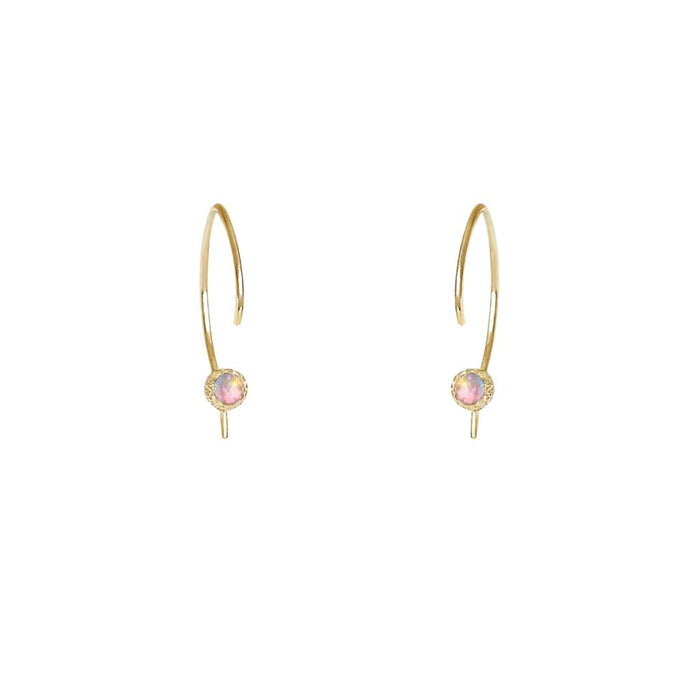 Star Dust Opal Hoops - James & Irisa Jewellery